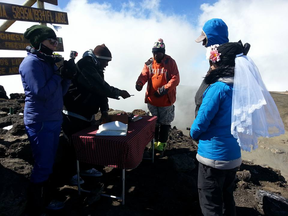 Getting married at the top of Kilimanjaro!
